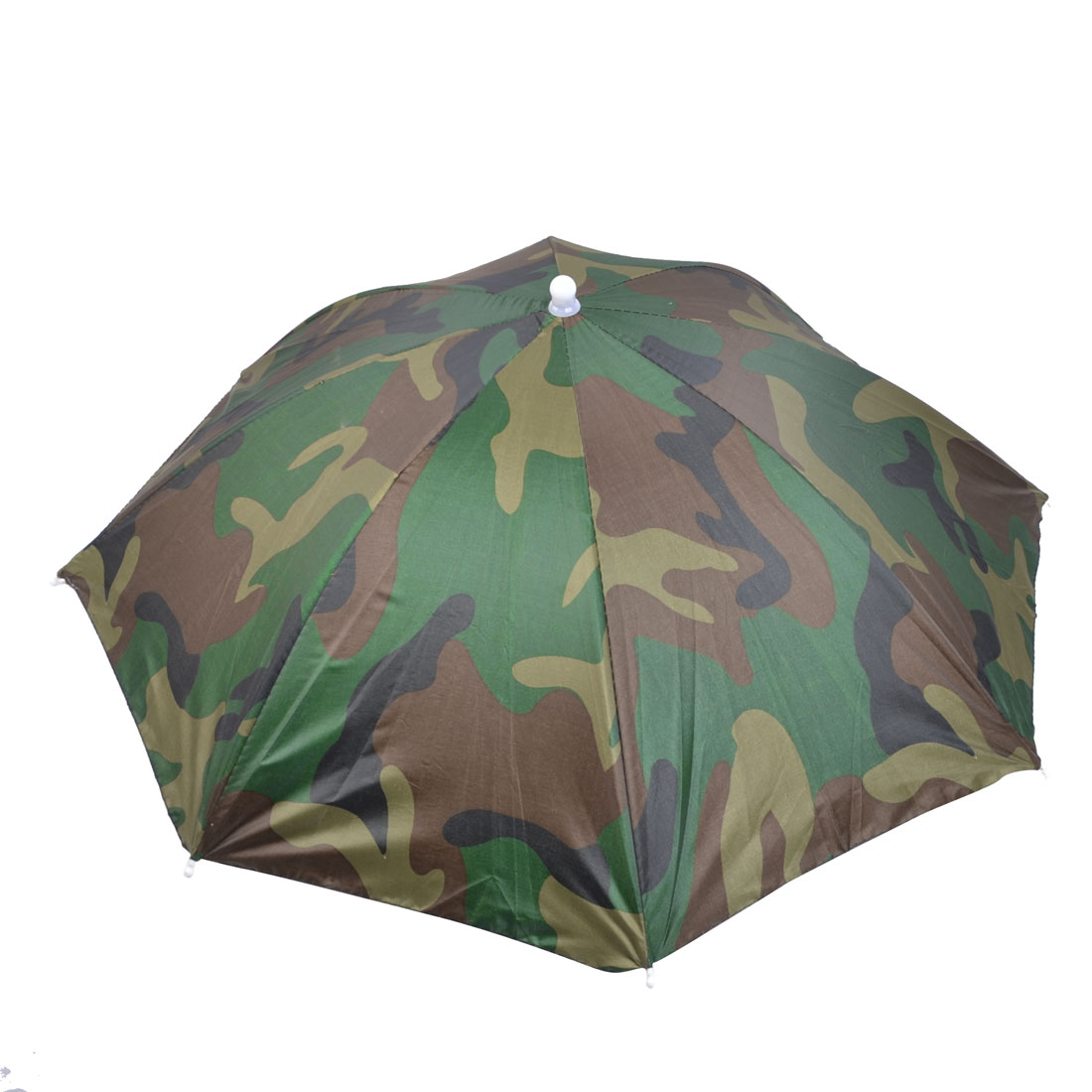 Stretchy Head Band Camouflage Print Foldable Umbrella Headwear Hat for Fishing