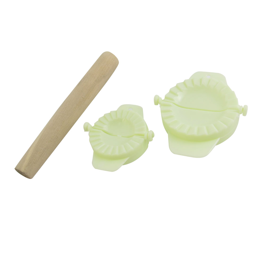 Baker Kitchenware Pasty Wooden Tool Rolling Pin Roller Gyoza Dumpling Mould Set