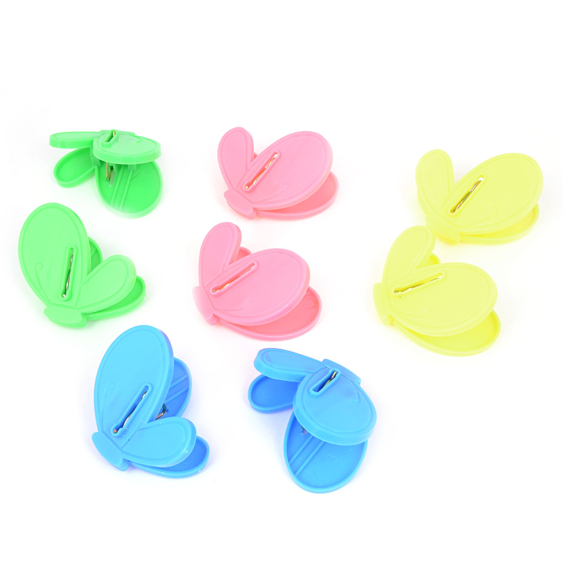 Multicolor Plastic Butterfly Shaped Clothespins Socks Clips Pegs 8 Pcs