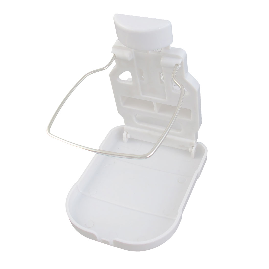 White Plastic Beverage Bottle Can Drink Cup Holder Stand Bracket for Car