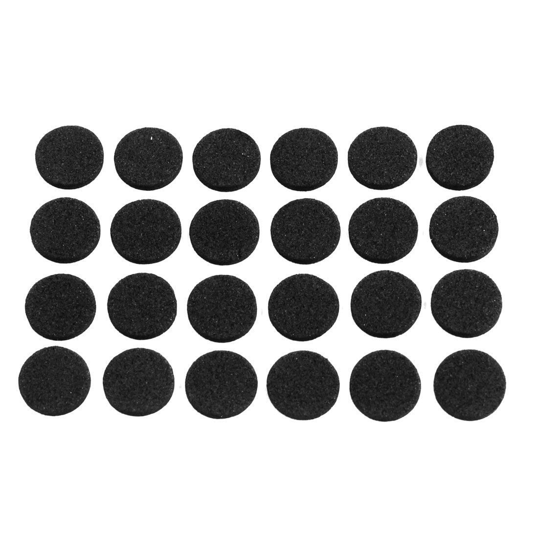 Self-adhesive Round Shape Black Furniture Protection Cushion Pads Mat 24 Pcs