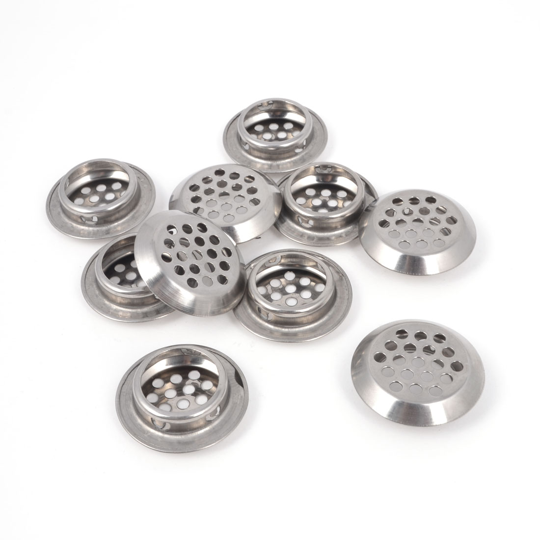 10 Pcs 25mm Dia Stainless Steel Round Mesh Hole Air Vent Louver