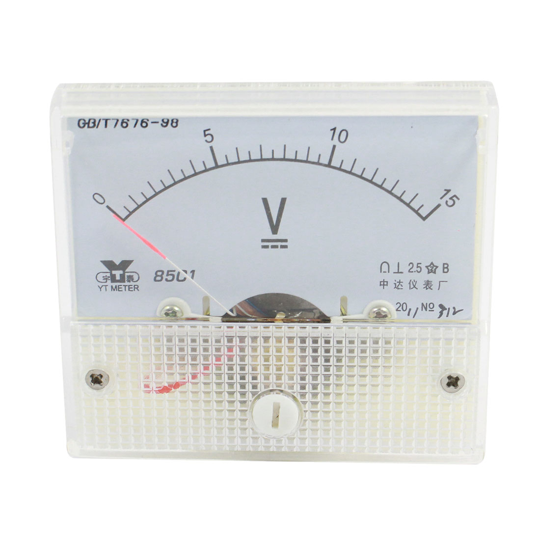 Class 2.5 DC 0-15V Voltage Panel Gauge Meter Voltmeter 85C1
