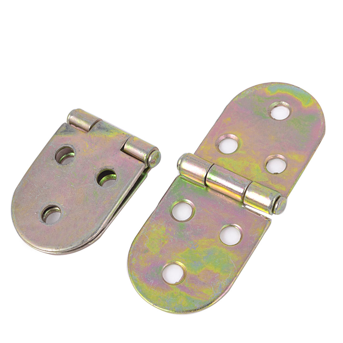 2Pcs Bronze Tone Metal Foldable Rotating Closet Cabinet Door Hinges 1.3""