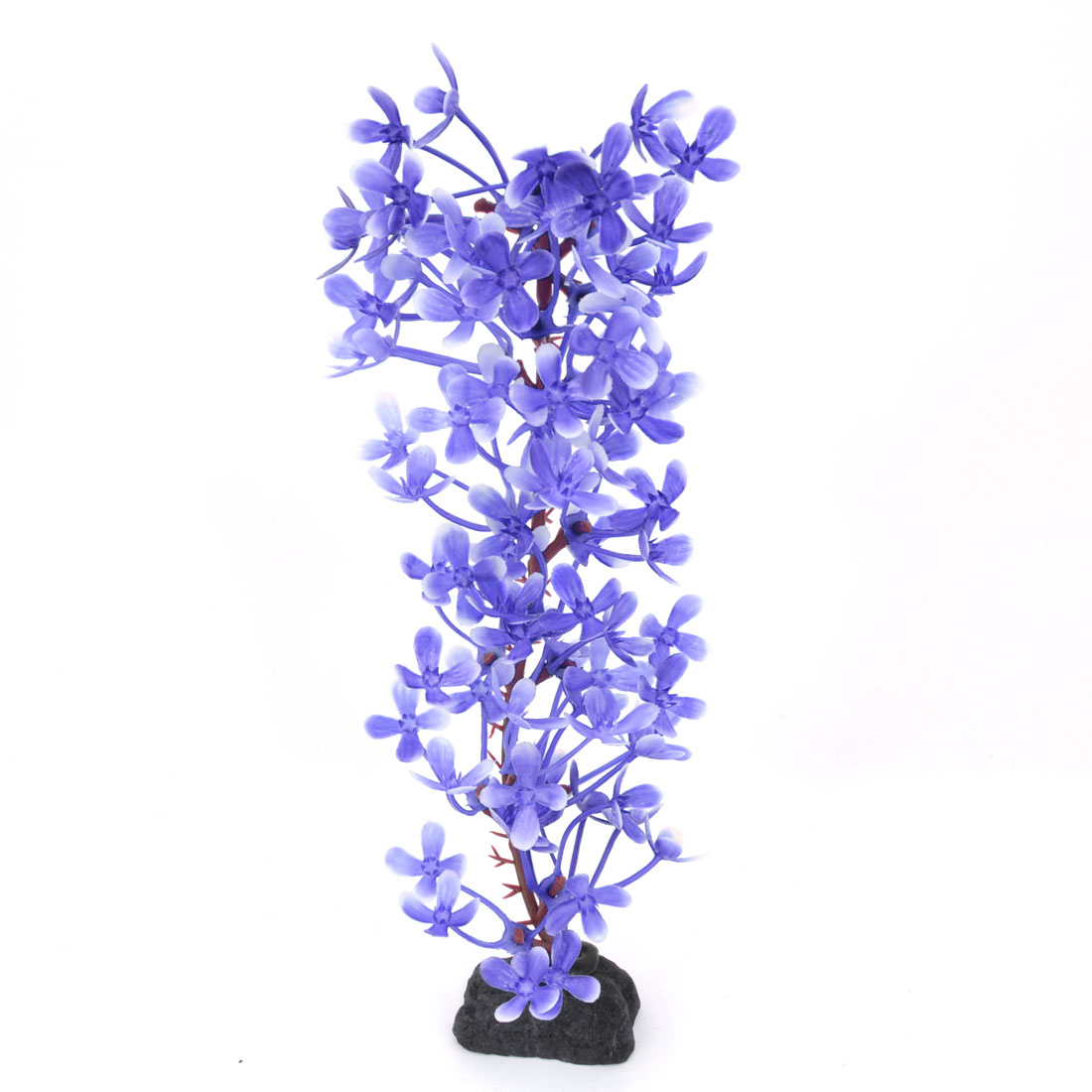 "7.5"" High Purple Aquarium Plastic Simulation Plant Decoration"