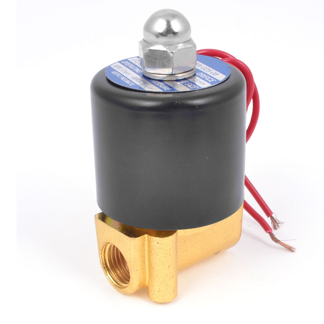 2W-025-08 2 Position 2 Way Water Air Oil Solenoid Valve AC 220V