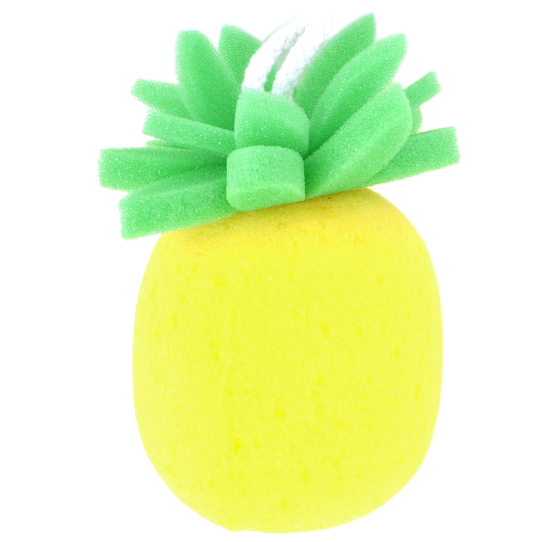 Yellow Green Pineapple Shaped Bath Sponge Shower Loop Scrubber