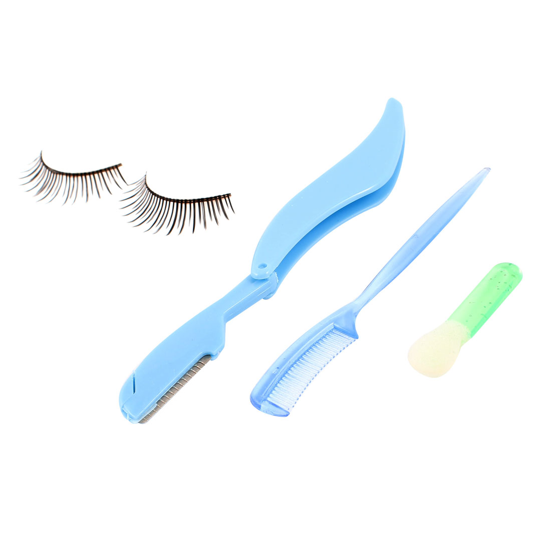 Ladies Cosmetic Tool False Eyelashes Eyebrow Razors Trimmer Comb Brush