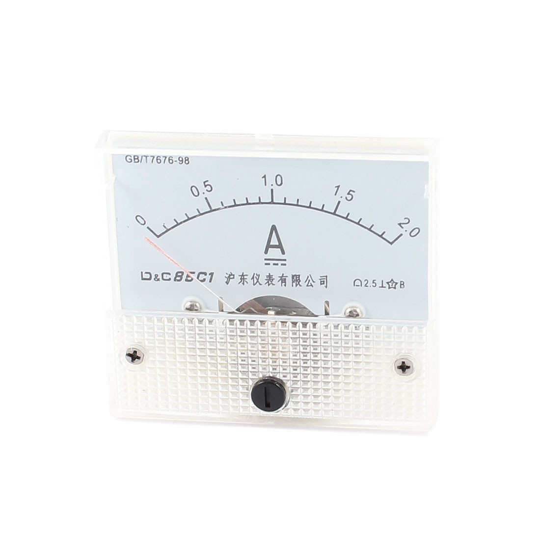 Rectangular Housing Class 2.5 Accuracy DC 2A Analog Ampere Meter Panel