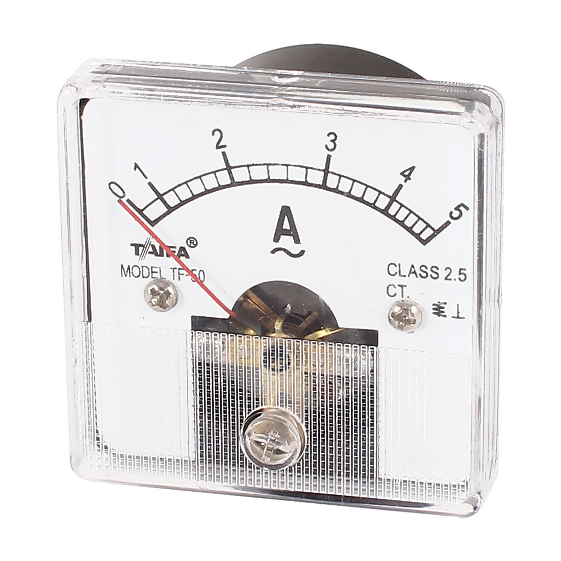 AC 5A Class 2.5 Sqaure Fine Tuning Dial Panel Ampere Meter Amperemeter