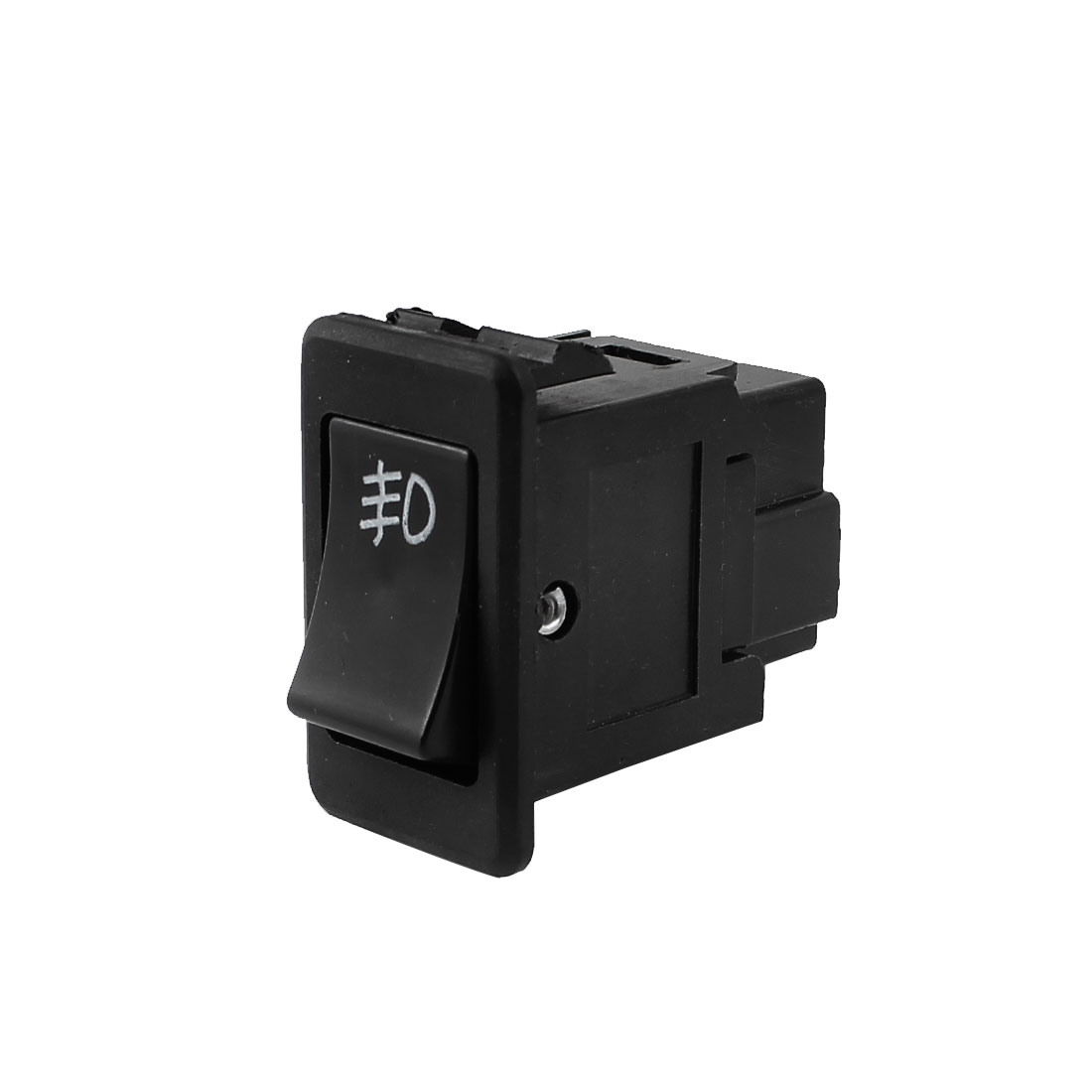 DC 12V SPST ON OFF 2 Pin Rocker Boat Switch Black for Car Fog Light Lamp