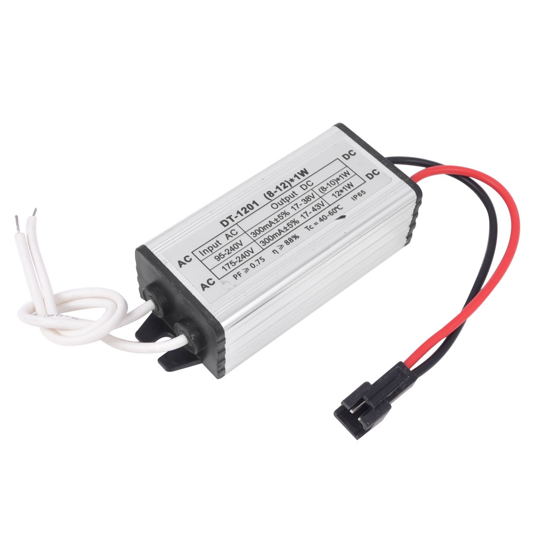 EL Wire 2 Pin Male Connector Waterproof LED Driver Power Supply (8-12)x1W
