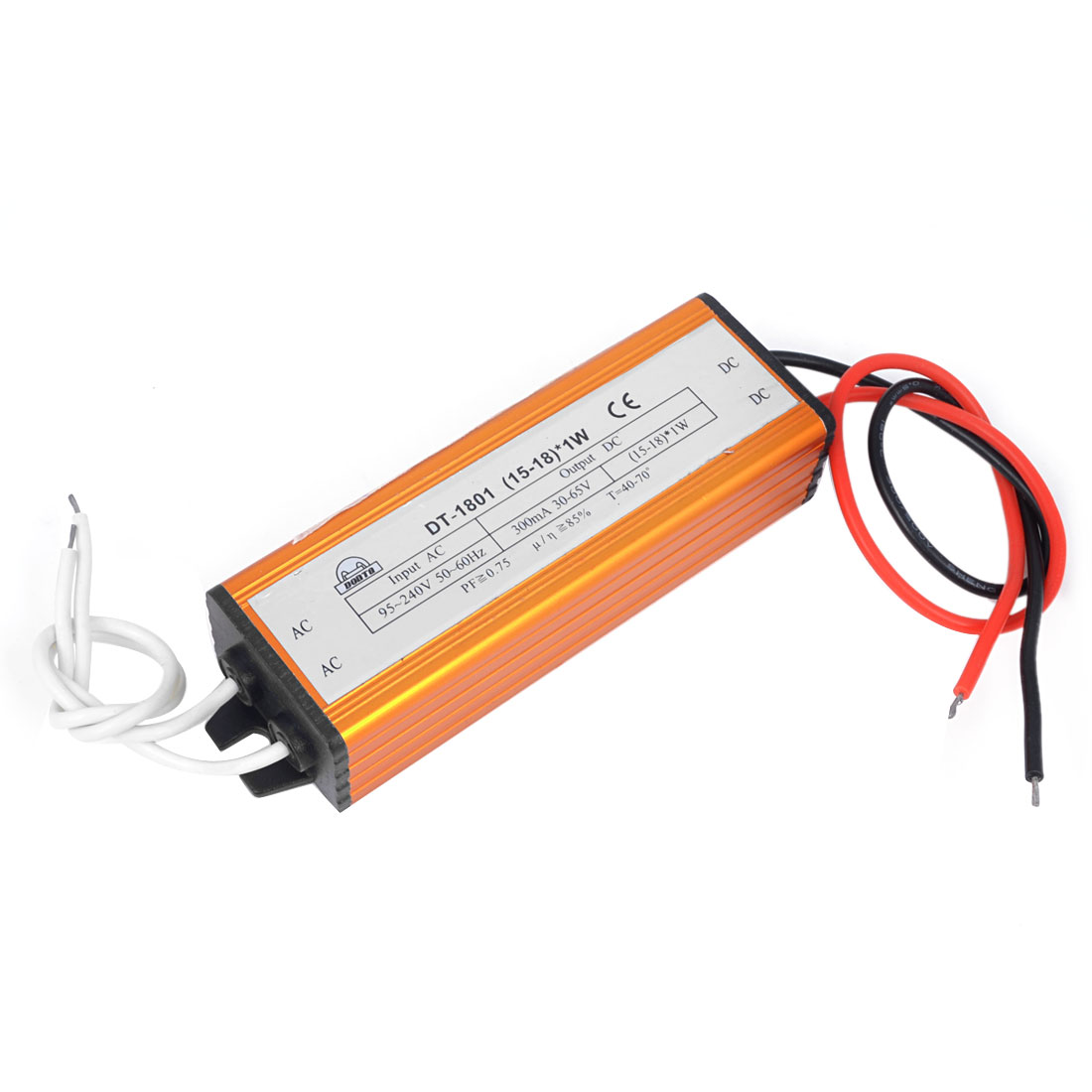 DC 30-65V (15-18)x1W Waterproof LED Driver Circuit Transformer Power Supply