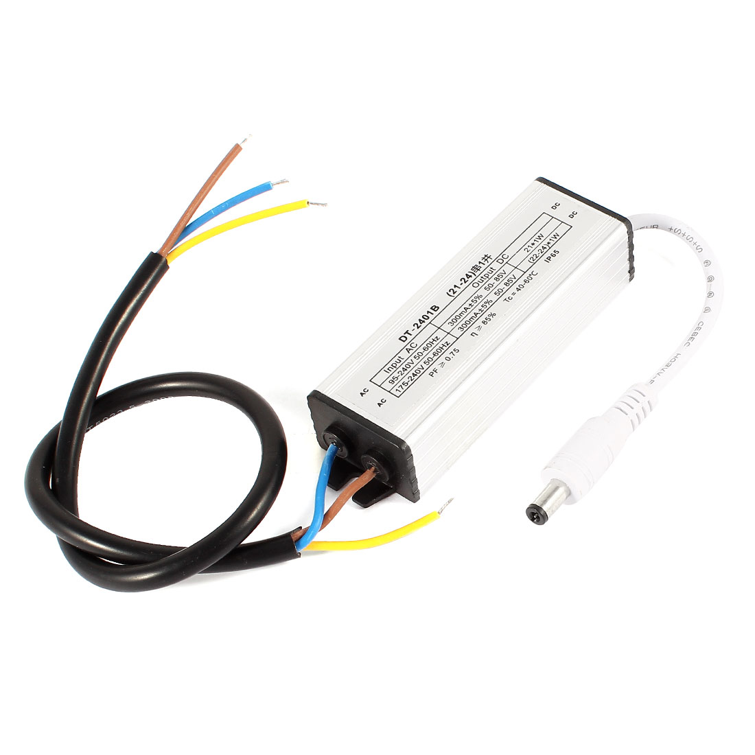 DC Plug Waterproof LED Constant Current Driver Transformer 21x1W (22-24)x1W