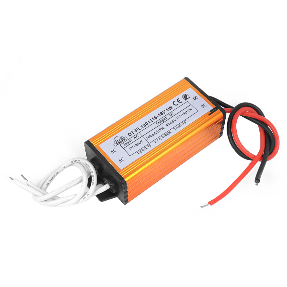 AC 175-240V to DC 40-65V Waterproof LED Constant Current Driver (15-18)x1W