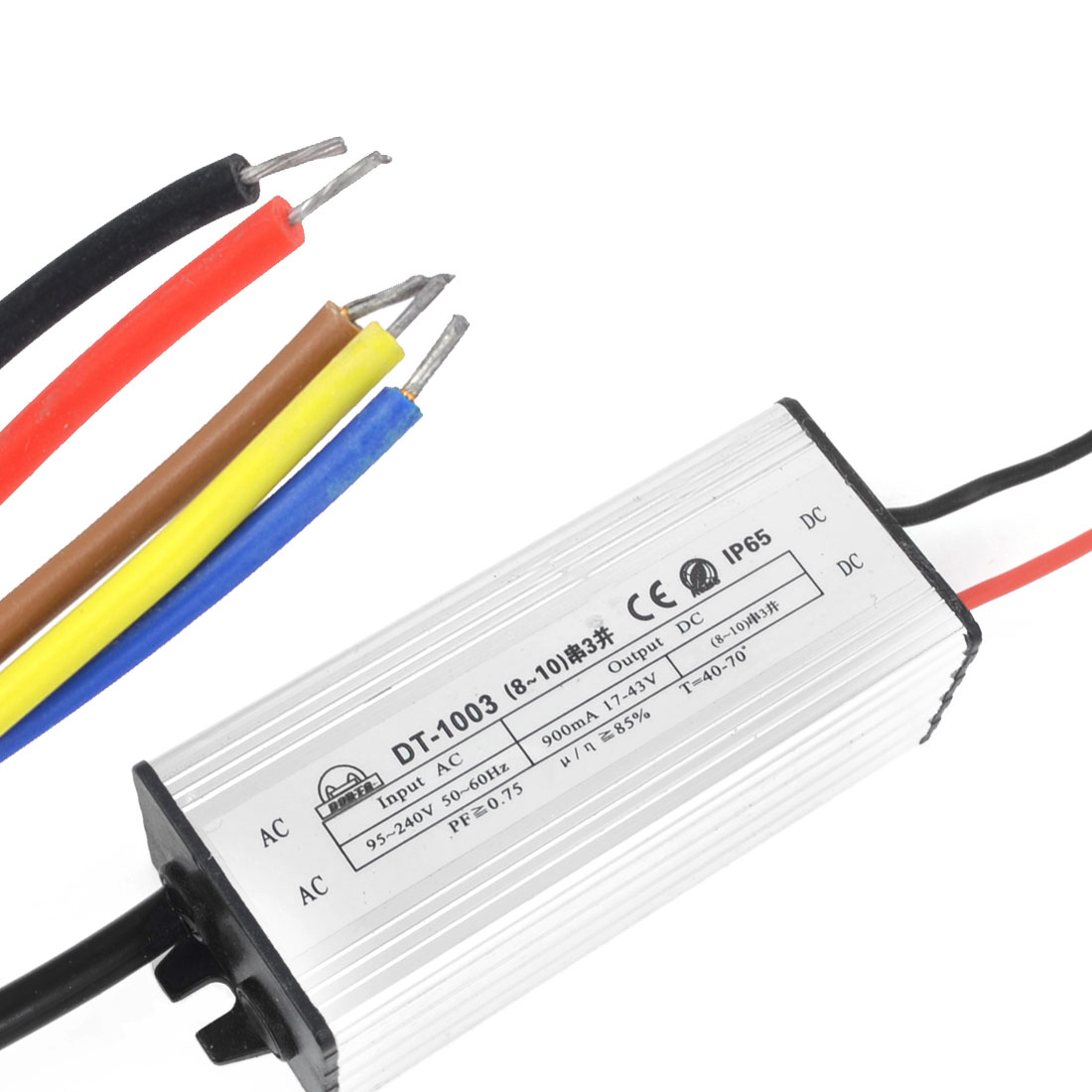 DC 17-43V 900mA 30W Aluminum Waterproof LED Driver Transformer Power Supply