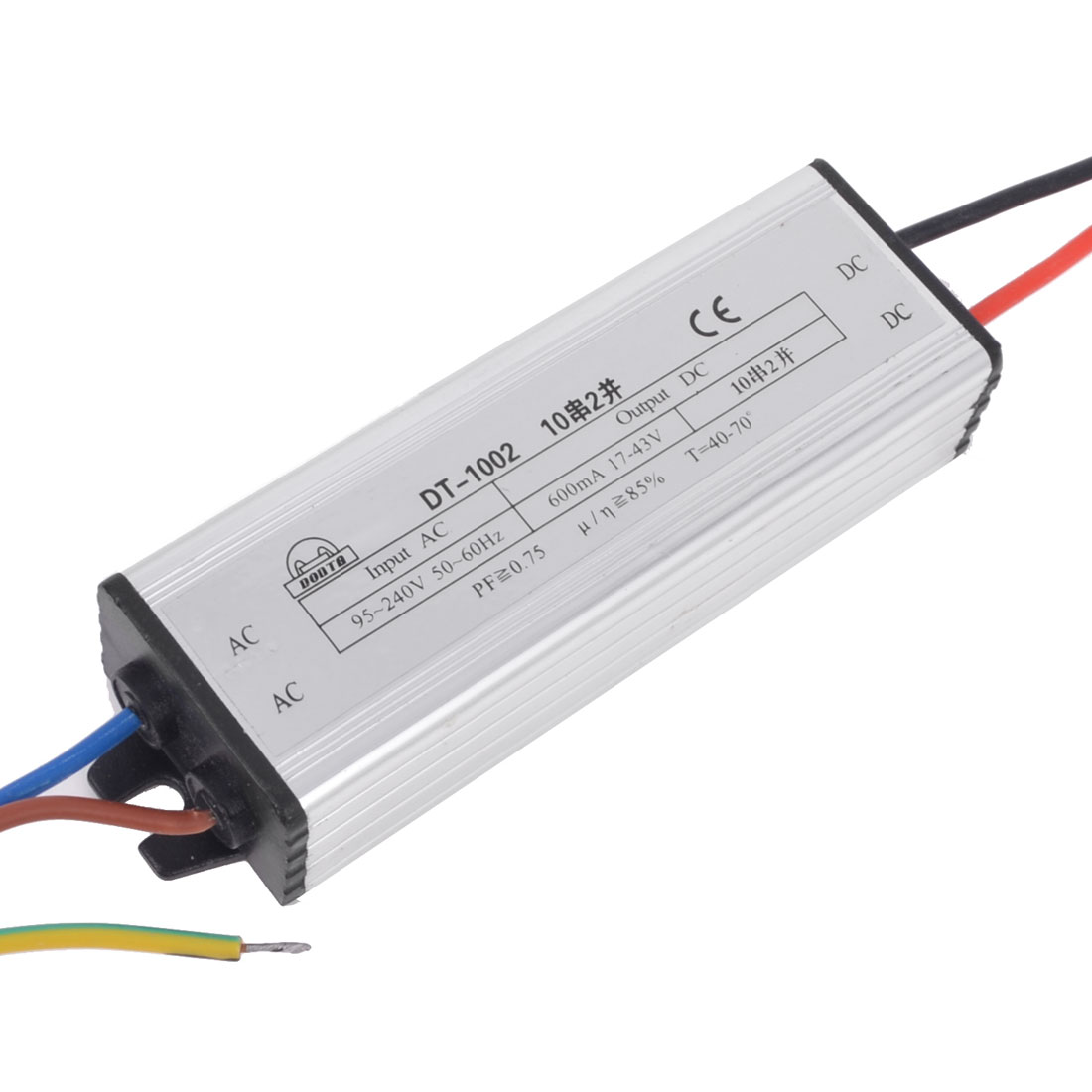 AC 95-240V to DC 17-43V Waterproof LED Driver Transformer Adapter 20W
