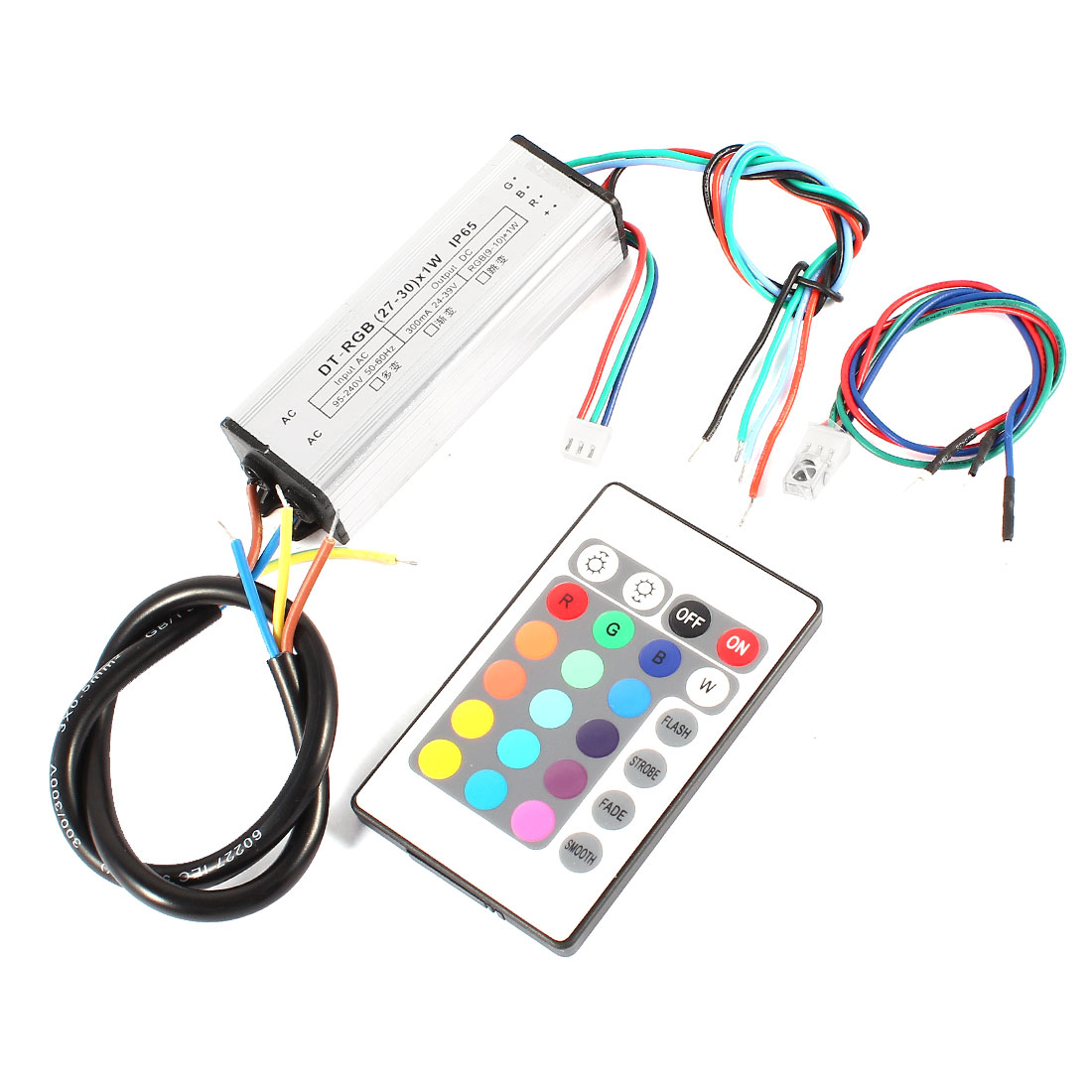 RGB Remote Controller LED Driver Power Supply Adapter (27-30)x1W for Strips