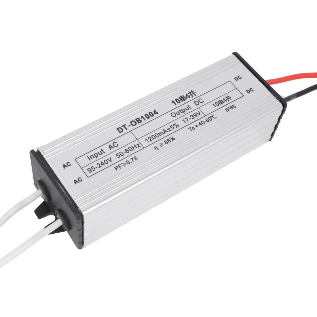 DC 17-39V 1200mA 40W Aluminum Waterproof LED Driver Transformer Power Supply