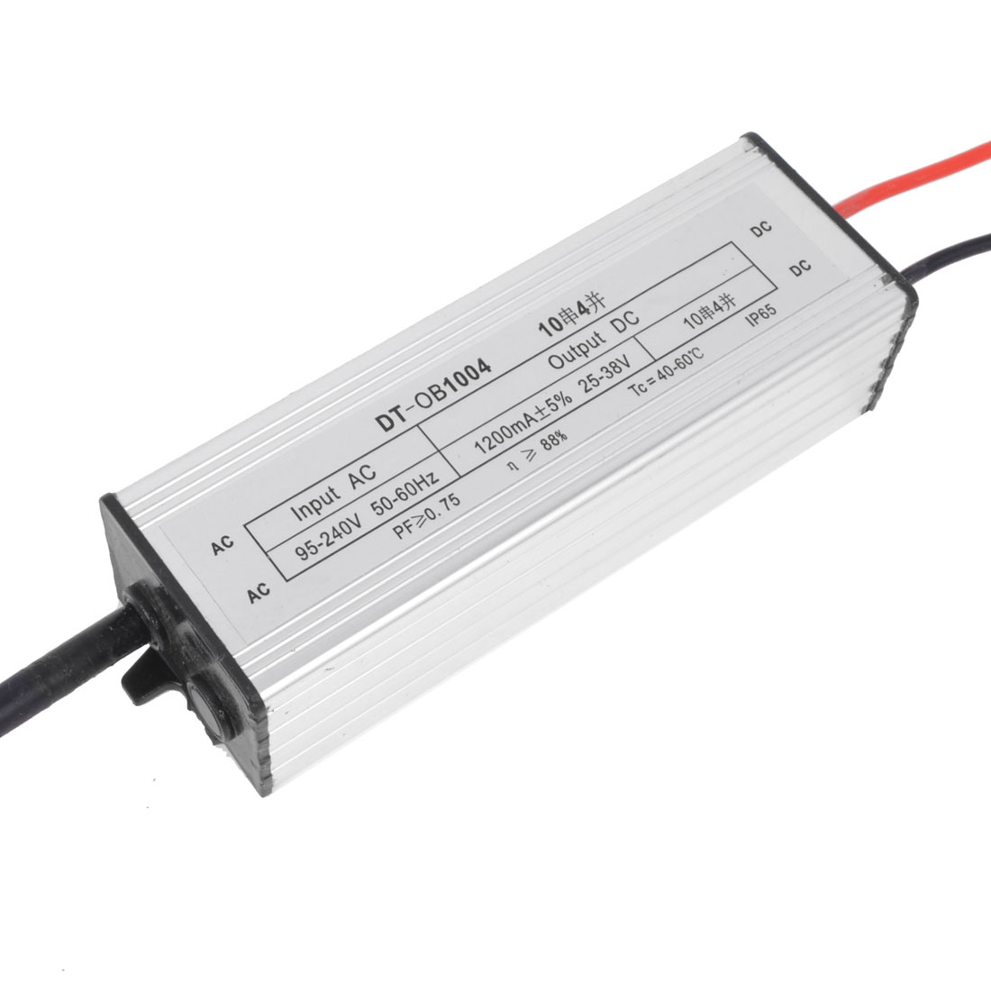 DC 25-38V 1200mA 40W Waterproof LED Driver Transformer High Power Supply