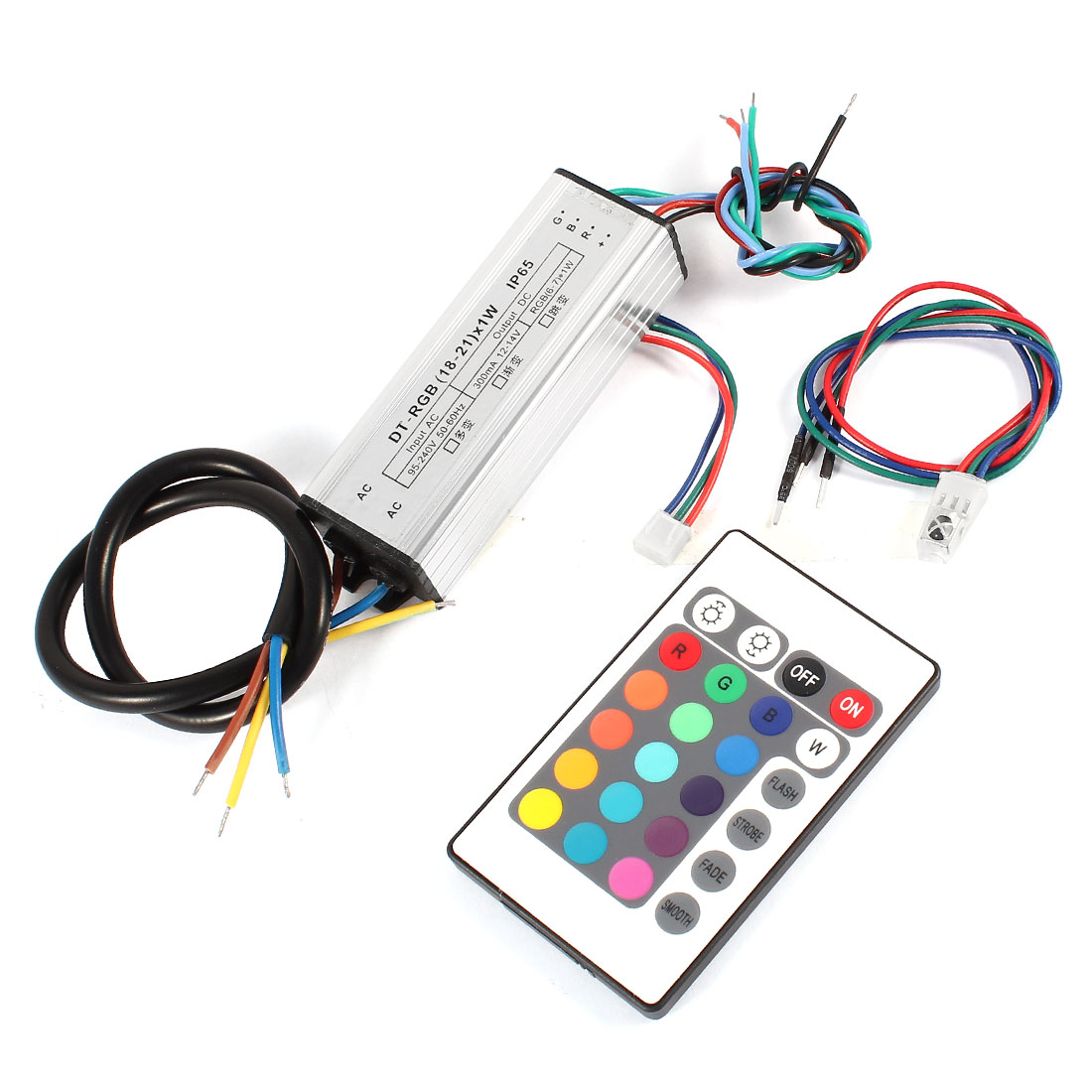 (18-21)x1W LED Driver Current Source Converter w RGB Remote Control