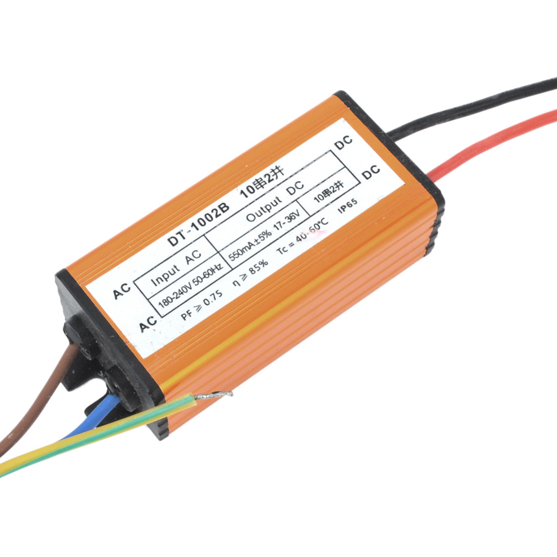 DC 17-36V 550mA 20W Aluminum Waterproof LED Driver Transformer Power Supply