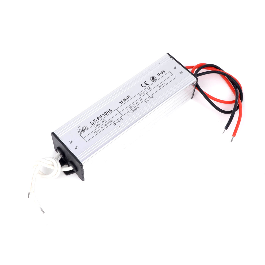 Waterproof 40W LED Driver Transformer Current Source AC 95-240V to DC 17-39V