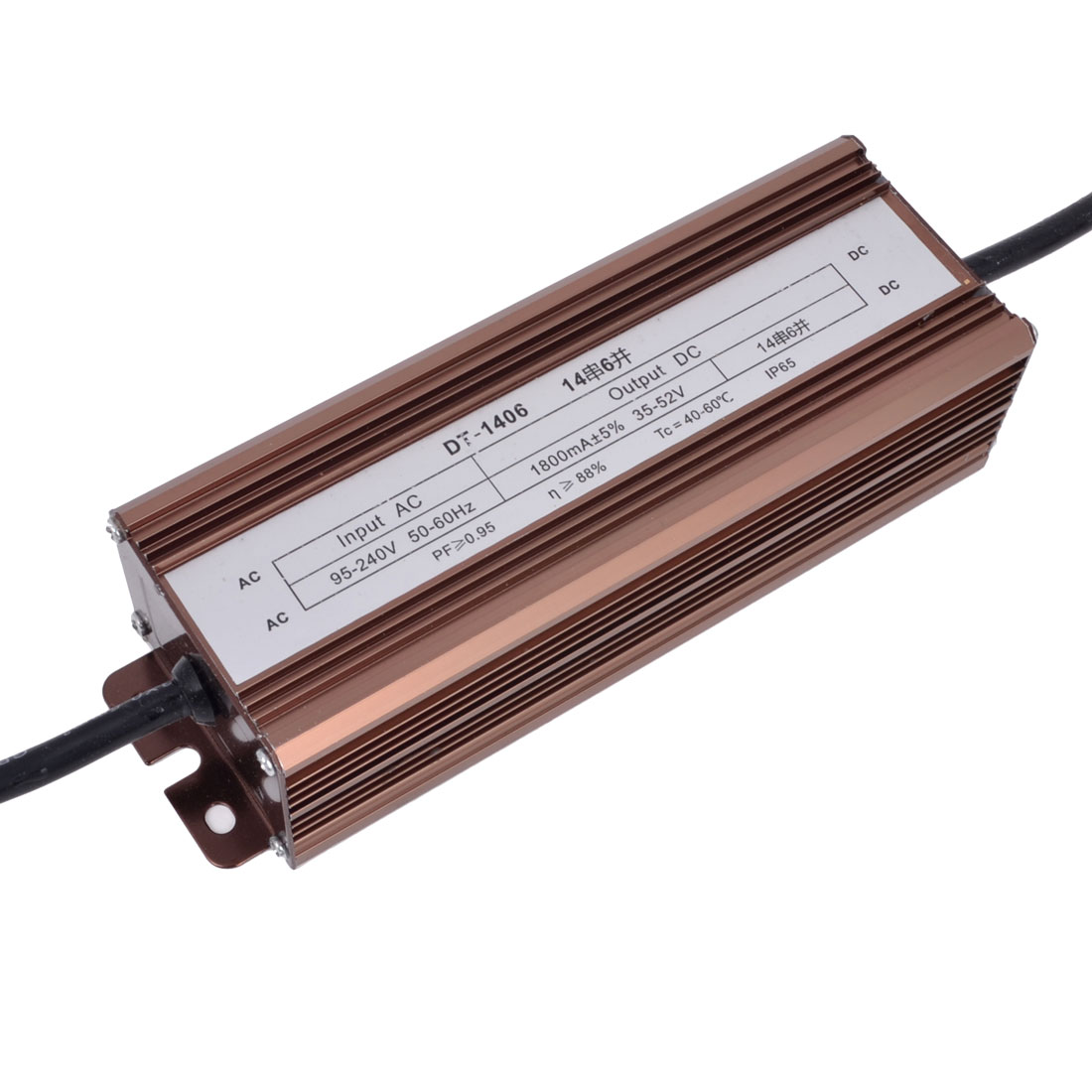 AC 95-240V to DC 35-52V Waterproof LED Driver Transformer Adapter 84W