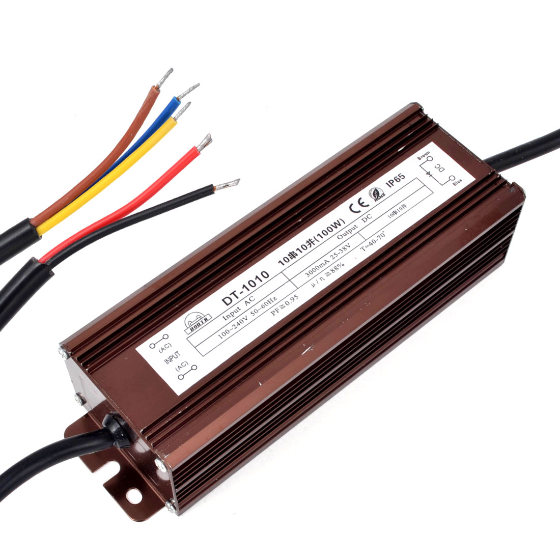 AC 100-240V to DC 25-38V Waterproof LED Driver Transformer Adapter 100W