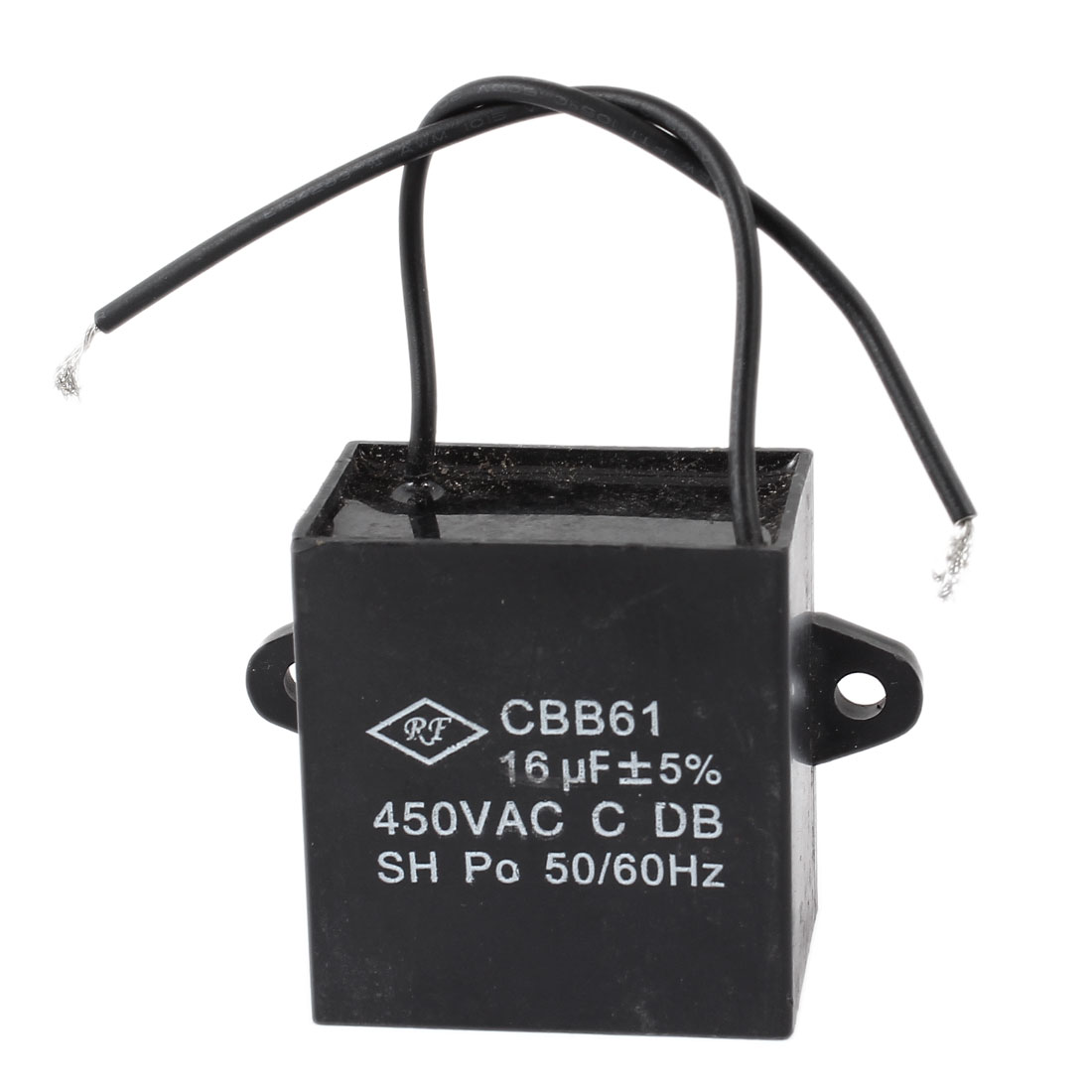 16uF 450VAC 50/60Hz 2 Wire Fan Motor Running Capacitor CBB61