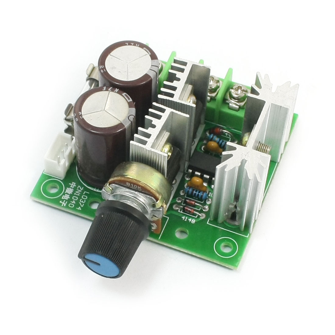 Rotary Adjustable Potentiometer Control Pulse Width Modulation PWM Motor Speed Controller Switch Governor DC12V-40V 10A 400W