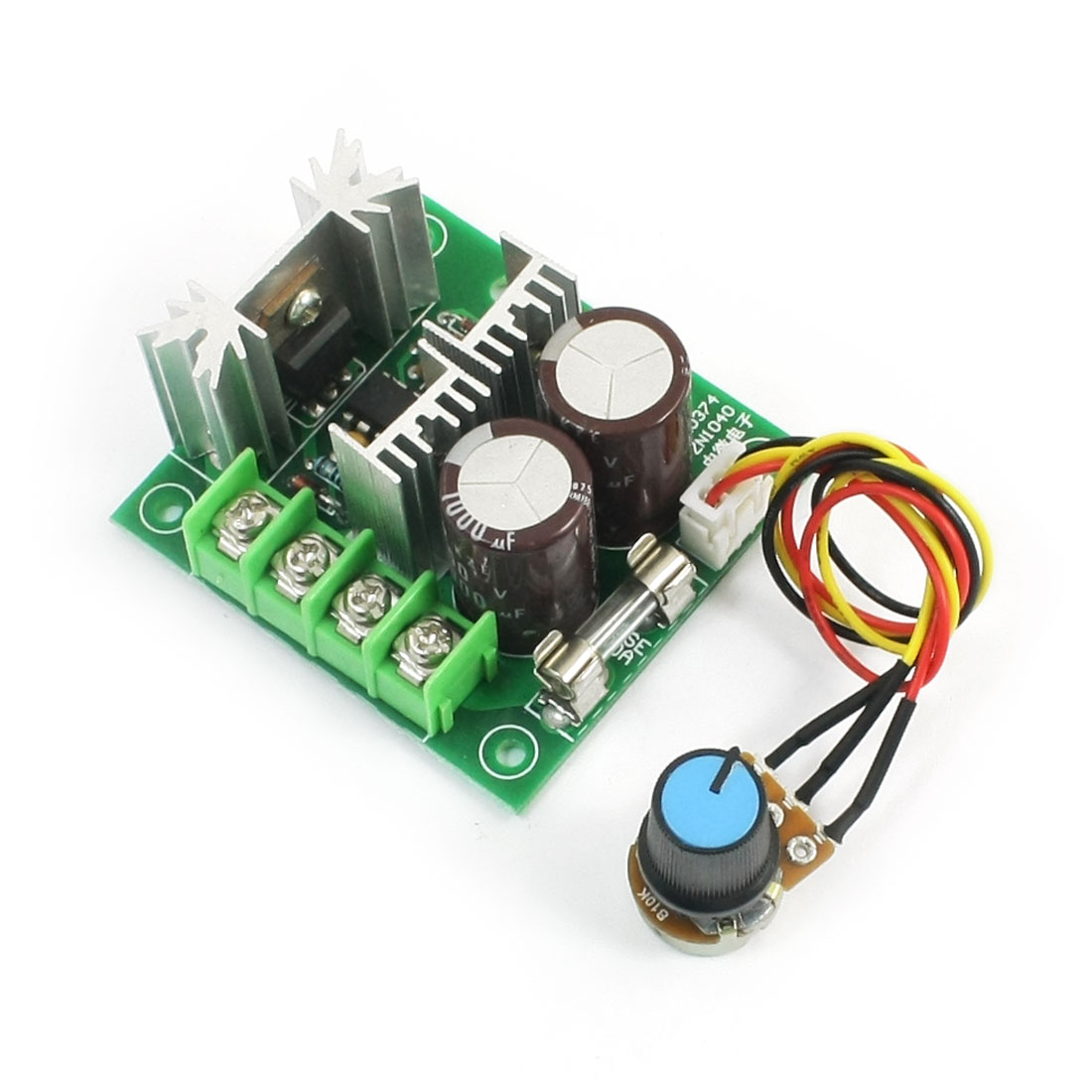 Rotary Potentiometer Adjustable Pulse Width Modulation PWM Motor Speed Control Switch Governor DC 12V-40V 400W