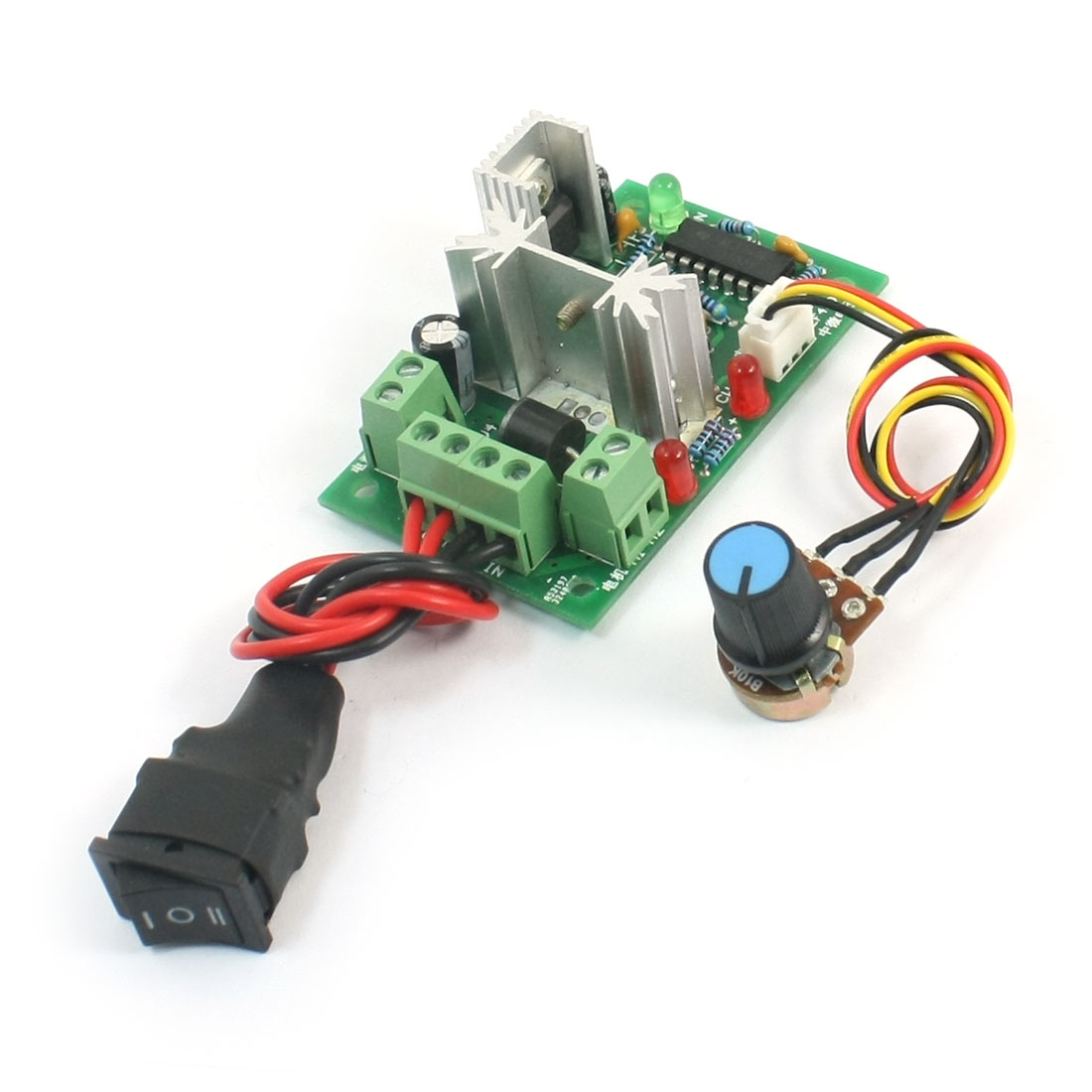 DC 10-36V 150W B10K Rotary Potentiometer 3P Rocker Switch Control CW Stop CCW PWM Motor Speed Controller Governor Module