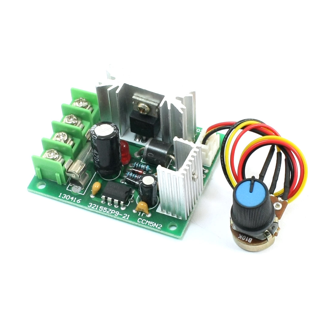 Rotary Potentiometer Adjustable Pulse Width Modulation PWM Motor Speed Controller Governor Switch DC 10-32V 120W