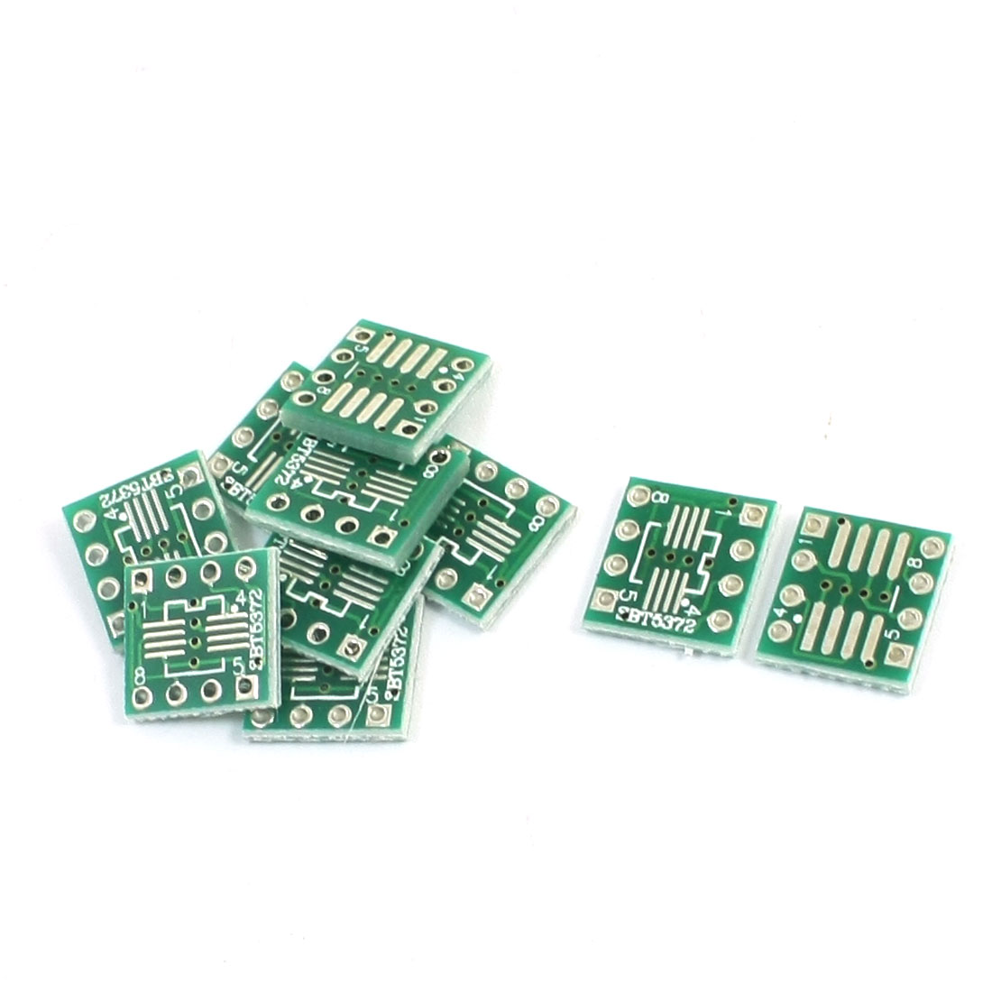 10 Pcs SOP8 0.5mm 1mm to DIP 8Pin 2.54mm Pitch Dual Sides PCB Adapter Converter PCB Board 11mm x 10mm