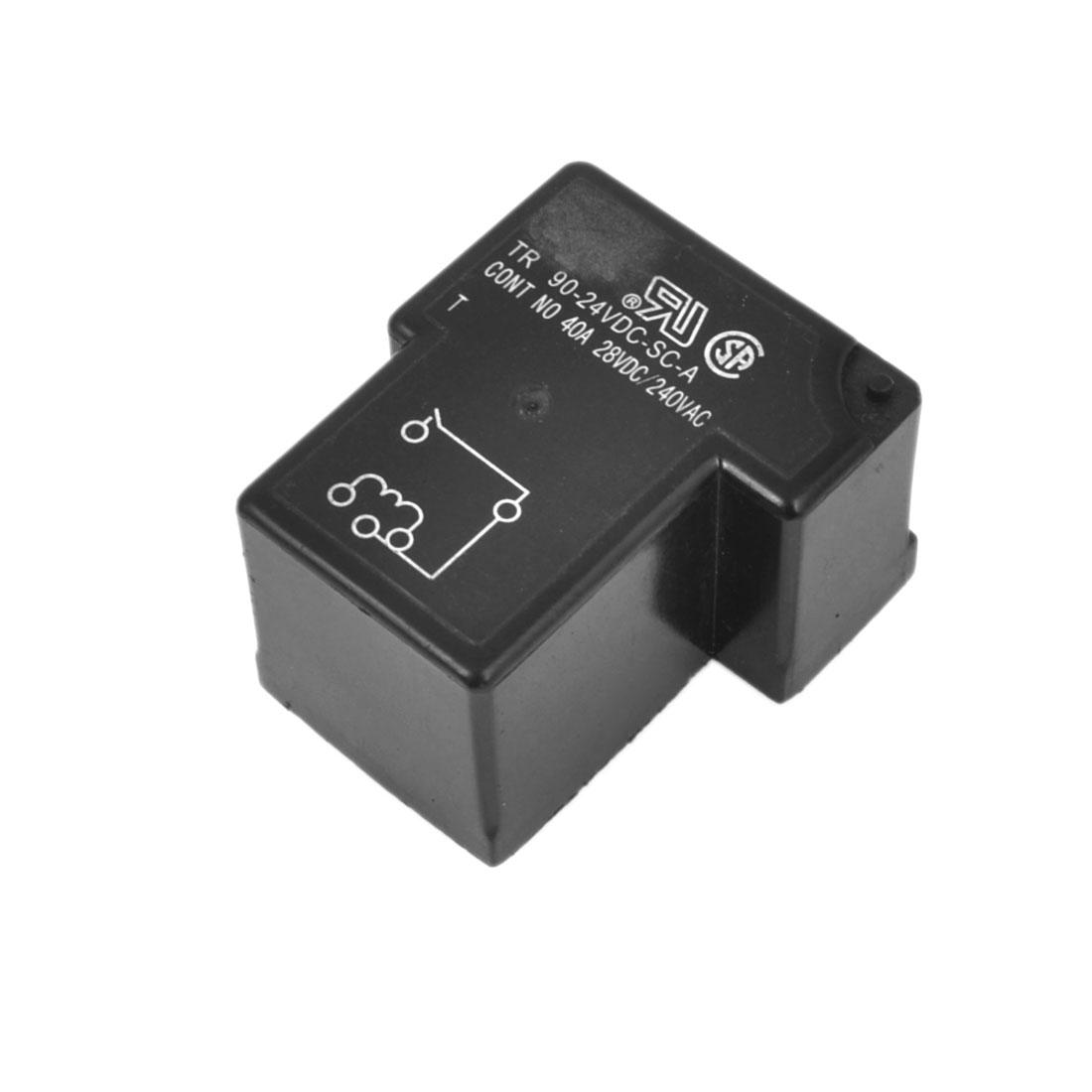 Input DC 24V Output AC240V DC28V 40A SSR PCB Solid State Relay Black