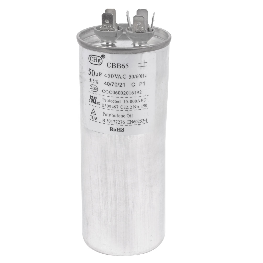 Air Conditioner AC 450V 50uF Cylindrical Motor Running Capacitor CBB65