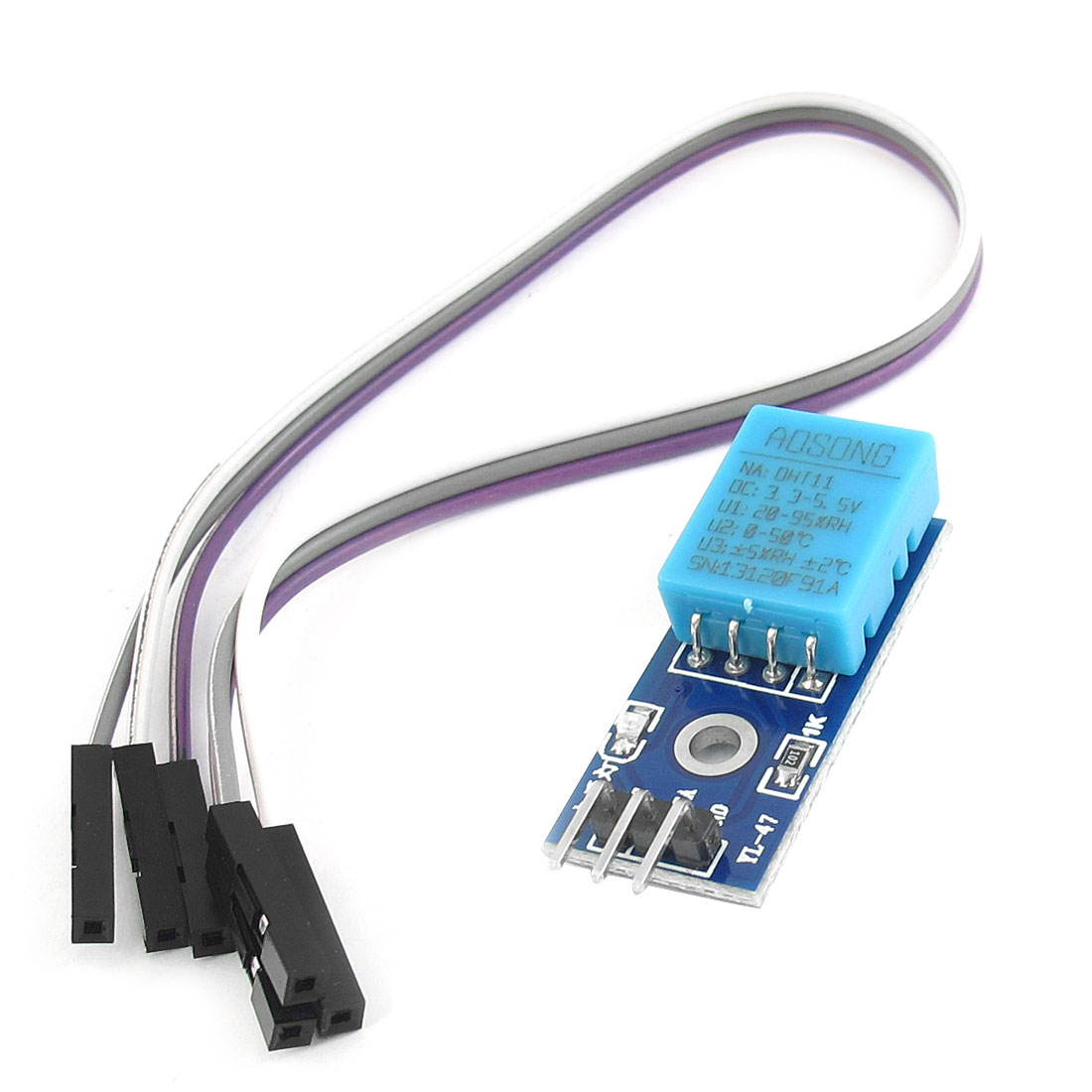 DHT11 Digital Temperature Humidity Sensor Module Board 3 Pin Blue DC 3.3V-5.5V