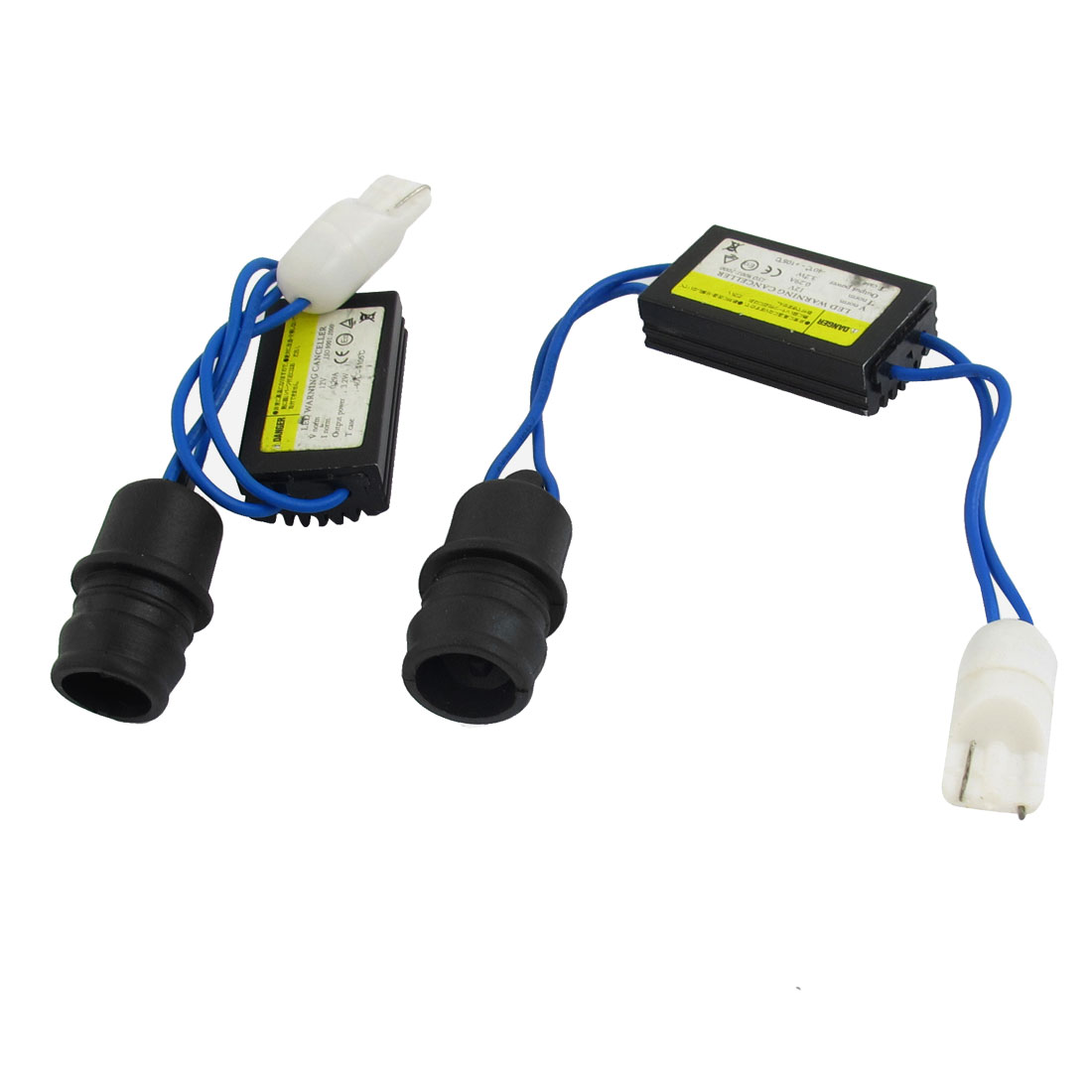 2 Pcs 2825 T10 W5W Light Bulb No Error Load Resistor Warning Canceller LED Decoder Adapter Wire