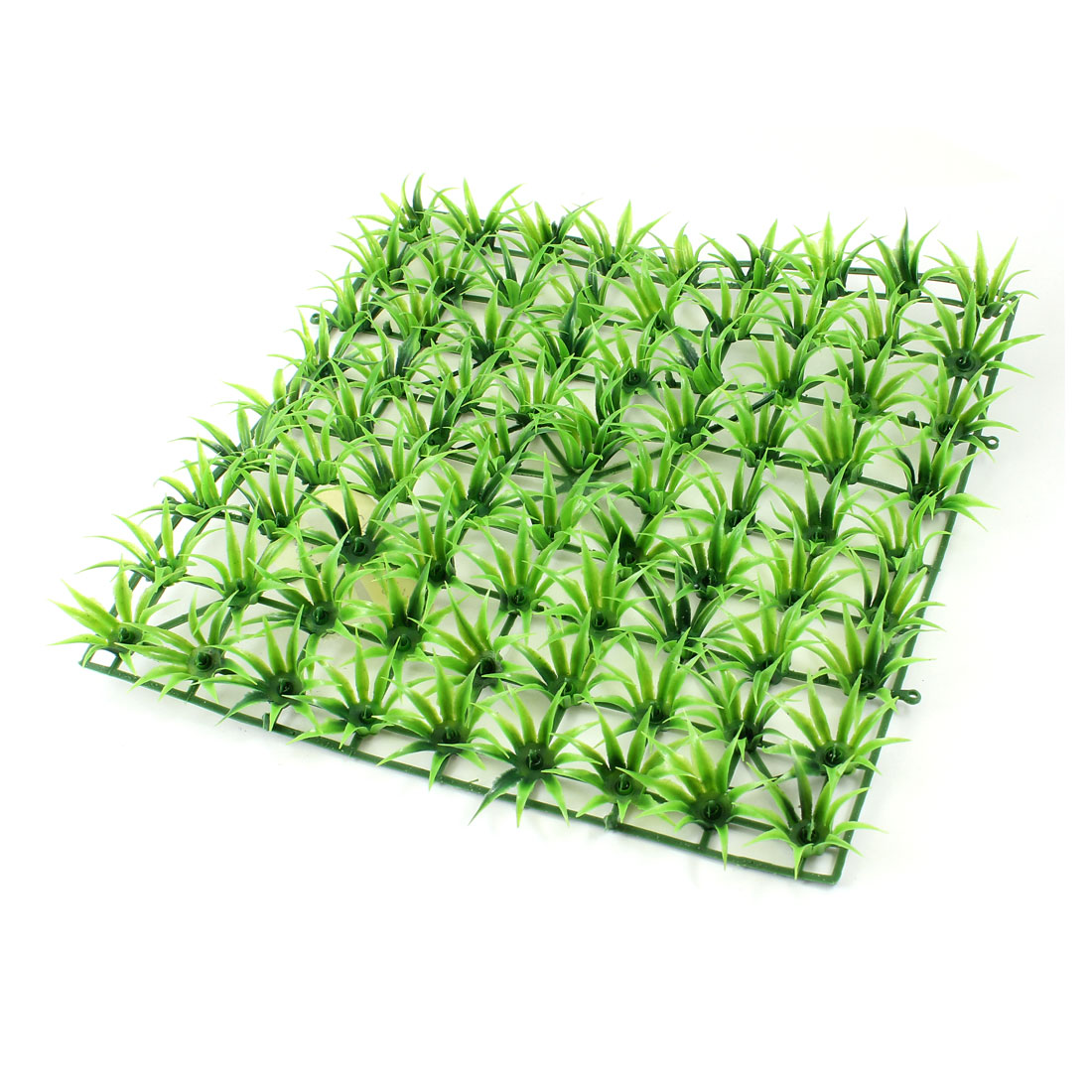 22.5cm x 22.5cm Green Grass Pine Needle Artificial Lawn Room Fish Tank Aquarium Decor