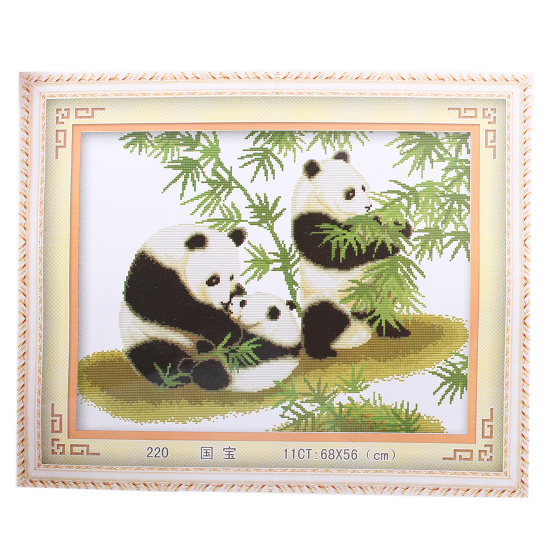 60cm x 48cm Panda Bamboo Pattern Stamped Cross Stitch Counted Kit for Lady Woman