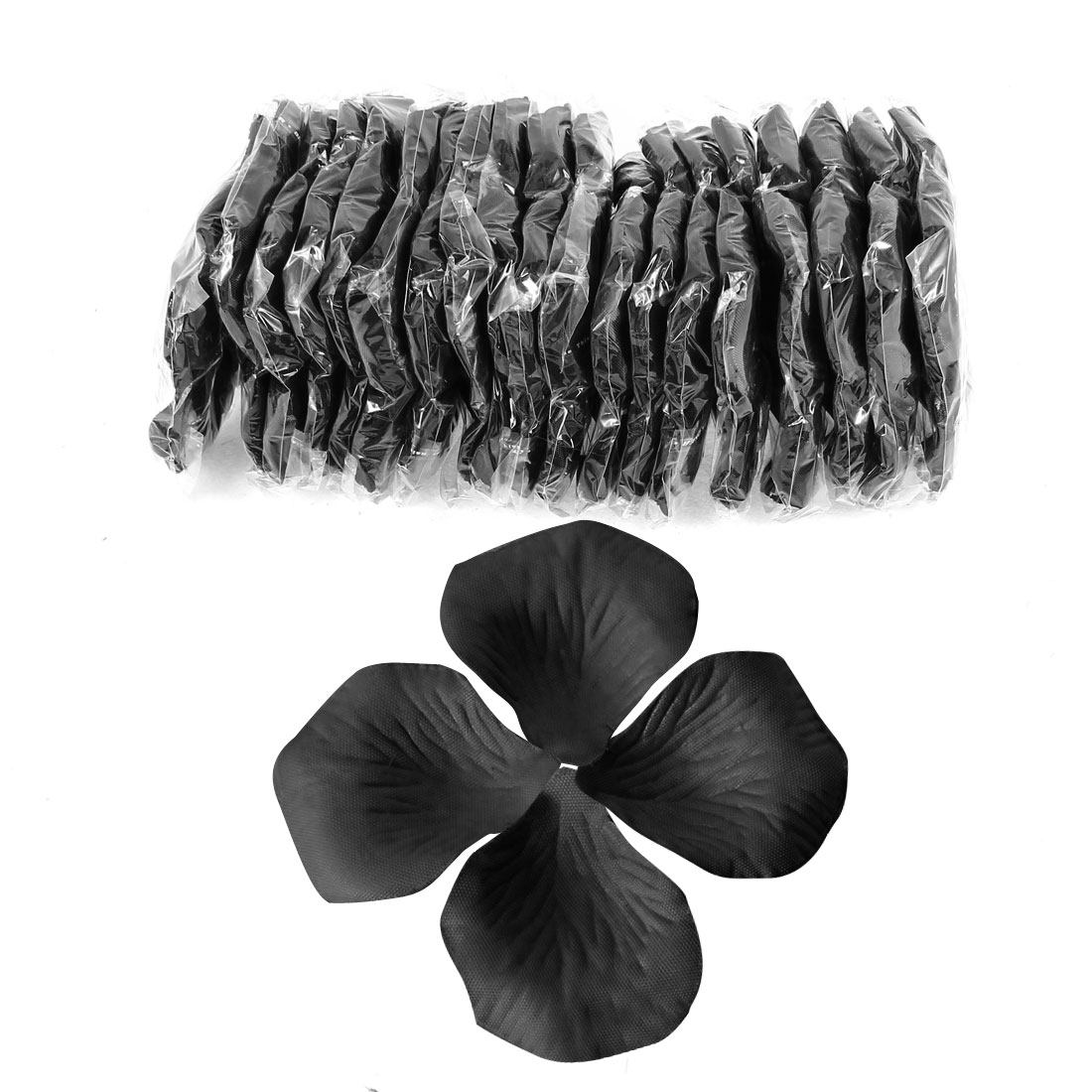 2000 Pcs Black Artificial Silk Flower Rose Petals Wedding Bridal Party Decorations