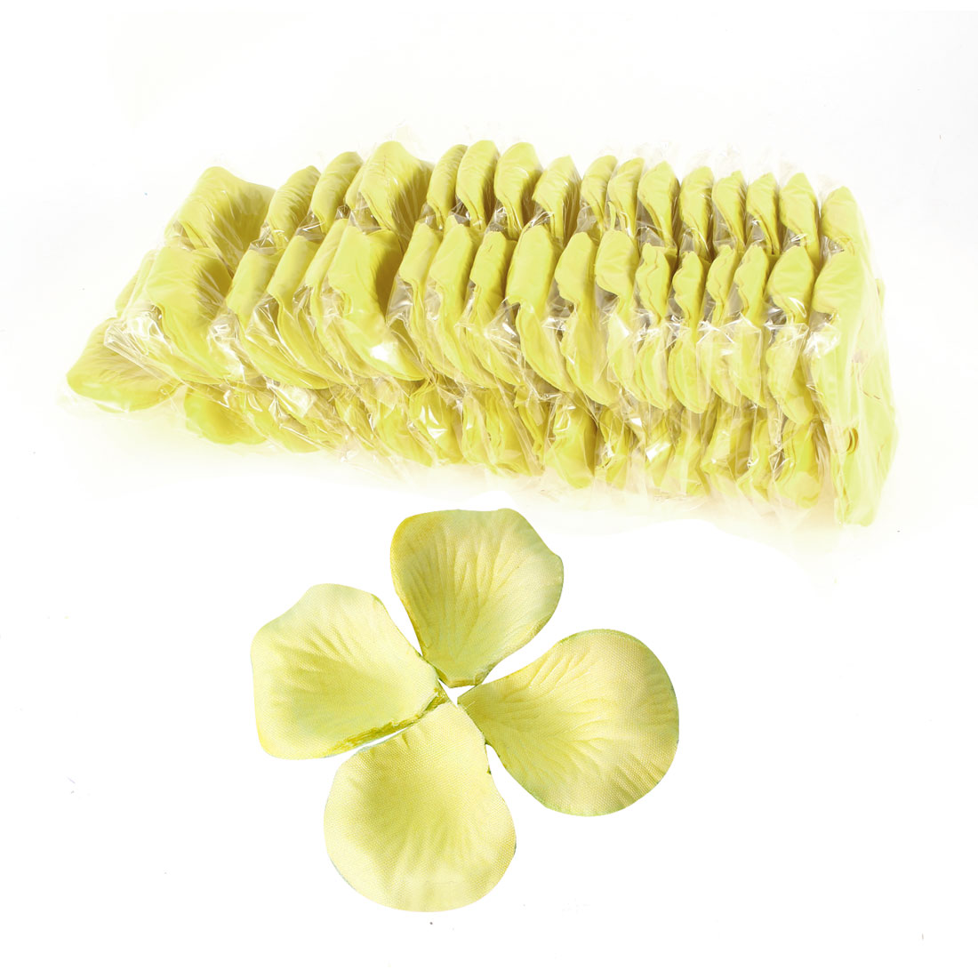 2000 Pcs Yellow Artificial Silk Flower Rose Petals Wedding Bridal Party Decorations