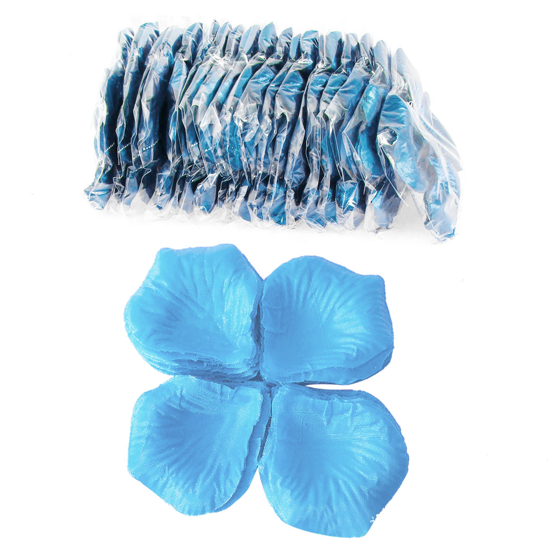 2000 Pcs Light Blue Artificial Silk Flower Rose Petals Wedding Bridal Party Decorations