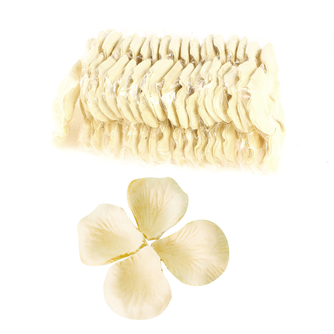 2000 Pcs Beige Artificial Silk Flower Rose Petals Wedding Bridal Party Decorations