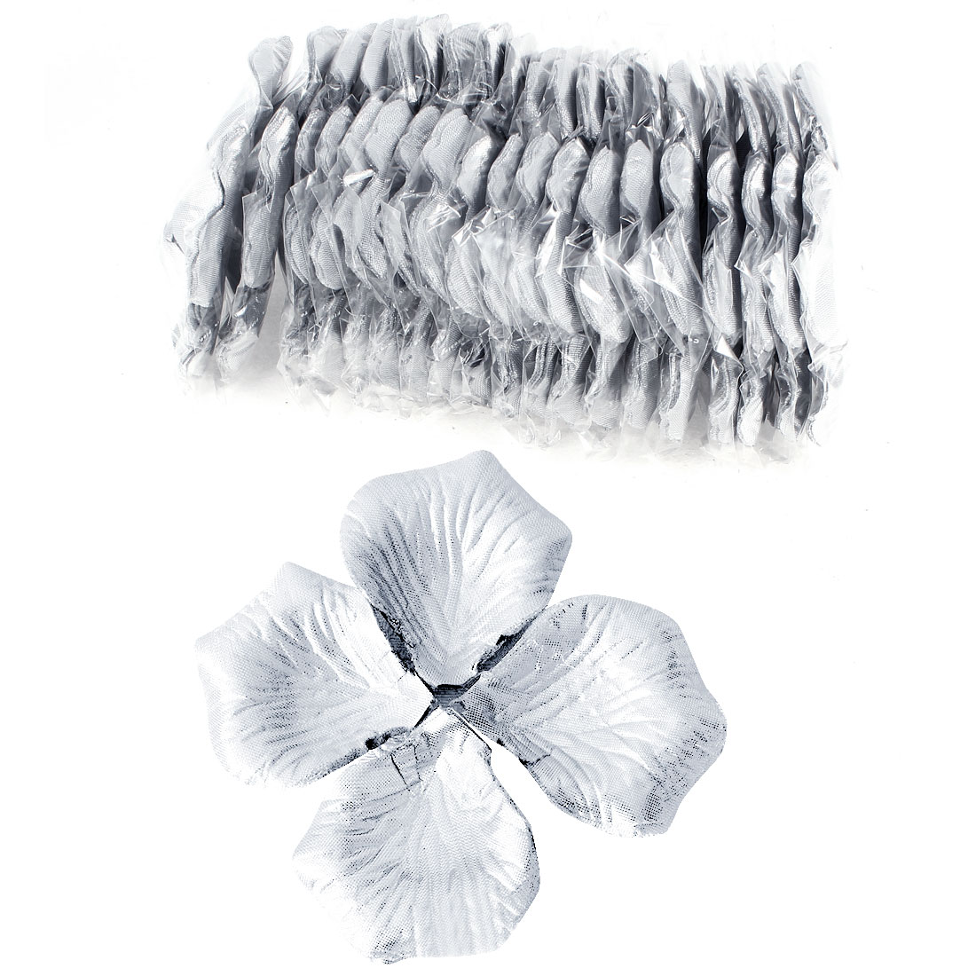 1000 Pcs Silver Tone Artificial Silk Flower Rose Petals Wedding Bridal Party Decorations
