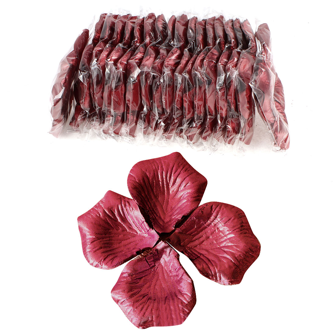 1000 Pcs Dark Red Artificial Silk Flower Rose Petals Wedding Bridal Party Decorations