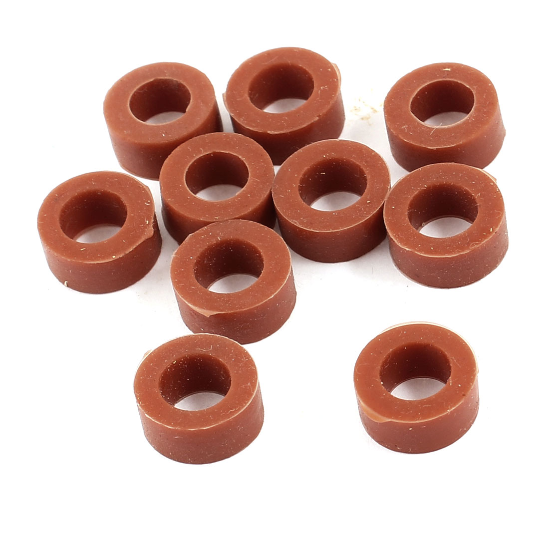 10 Pcs Mechanical Red Rubber O Rings Oil Seal Washers 15mm OD Burgundy