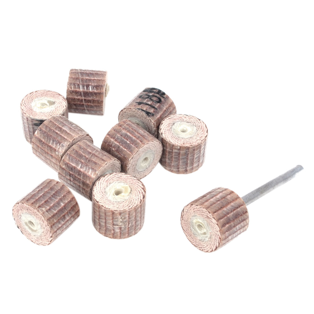 10 Pcs 14mm Dia Rosybrown Felt Polishing Wheel Polishers for Rotary Tool