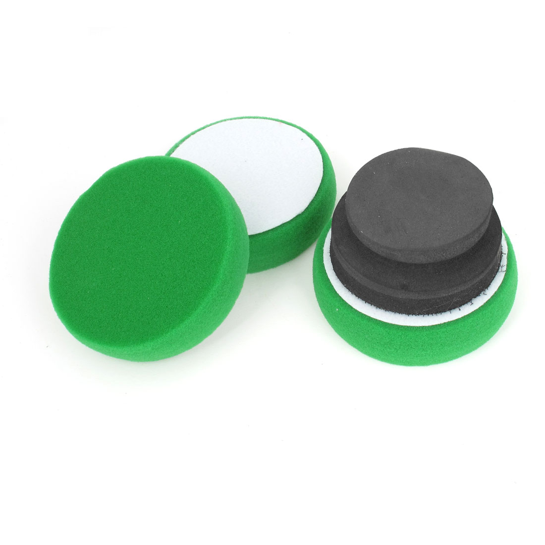 3 in 1 Green Car Round Cleaning Washing Polishing Tool Sponge Pad Set